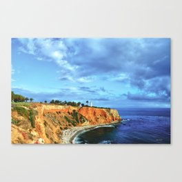 Pointe Vicente light house at the bluffs Canvas Print