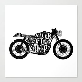 Cafe racer motorcycle Canvas Print
