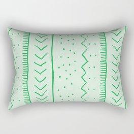 Moroccan Stripe in Green Rectangular Pillow