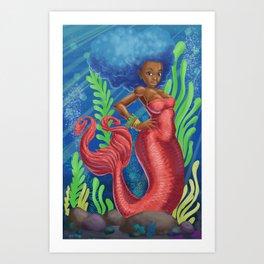 Sweetheart - MerMay Mermaid. Art Print