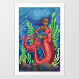 Sweetheart - MerMay Mermaid. Art Print