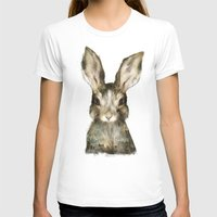 rabbits T-shirts featuring Little Rabbit by Amy Hamilton