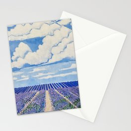 Lavender Fields Forever  Stationery Cards