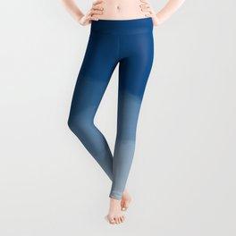 Blue Watercolor Ombre (Pantone Classic Blue) Leggings