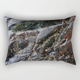 Ocean Weathered Natural Rock Texture with Barnacles Rectangular Pillow