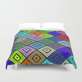 Modern Multicolor Patterns Duvet Cover