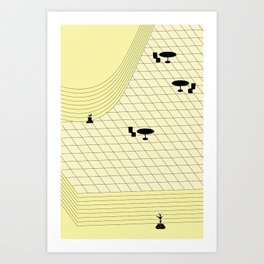 MALL PLAZA Art Print