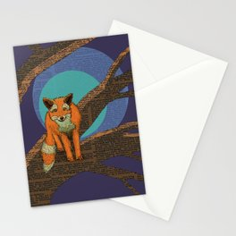 Fox at night Stationery Cards