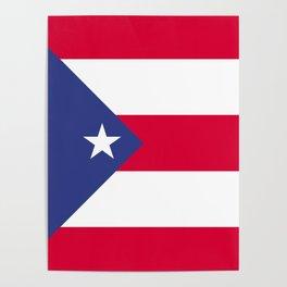 Puerto Rico flag emblem Poster