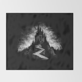 Vampire Castle Throw Blanket