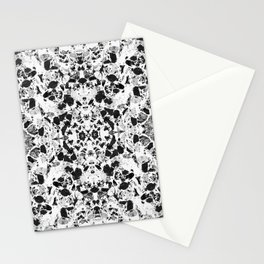 Beautiful Black and White Terrazzo Tile Stationery Cards
