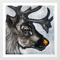 Rudolph, the Red-Nosed Reindeer Art Print