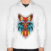 wolf Hoodies featuring Wolf by mark ashkenazi
