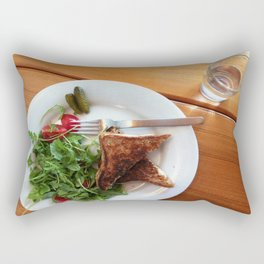 Grilled cheese 'n' gherkins Rectangular Pillow