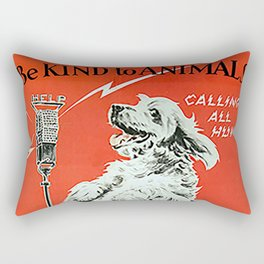 Be Kind To Animals 6 Rectangular Pillow
