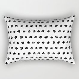 Black & White Dots Rectangular Pillow