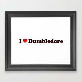 I heart Dumbledore Framed Art Print