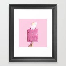 Candy Crunching Numbers Framed Art Print
