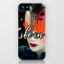 Life in colors iPhone Case