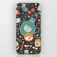 coasters iPhone & iPod Skins featuring Carrot Cake by Anna Deegan