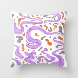 manchas a tres colores Throw Pillow