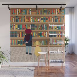 Take a book to kennel Wall Mural