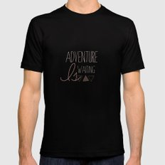Adventure is Waiting  Mens Fitted Tee Black MEDIUM