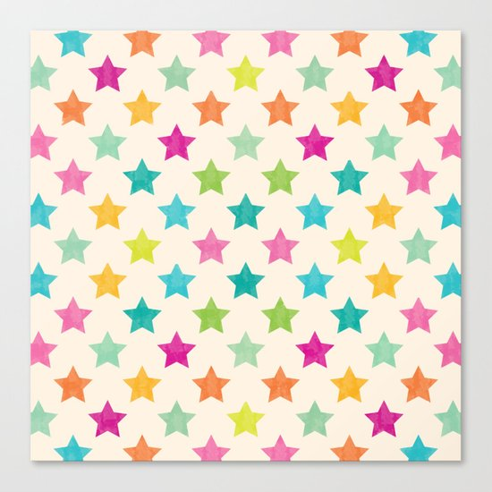 Colorful Star Canvas Print