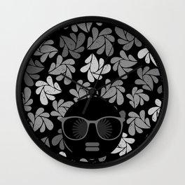 Afro Diva Black & Gray Wall Clock