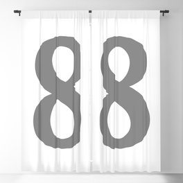 8 (GRAY & WHITE NUMBERS) Blackout Curtain