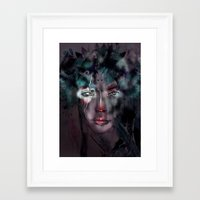 fairy Framed Art Prints featuring fairy by Irmak Akcadogan