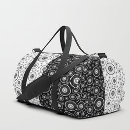 Black and White Circles Duffle Bag