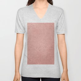 Abstract modern rose pink geometrical pattern Unisex V-Neck