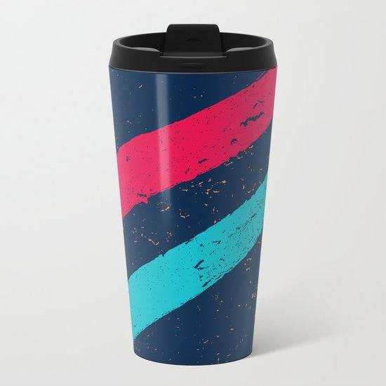 STREET SLANG / Stripes 3 Metal Travel Mug