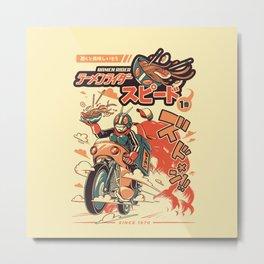 Ramen Rider Metal Print