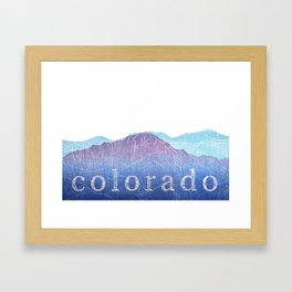 Colorado Mountain Ranges_Pikes Peak + Continental Divide Framed Art Print