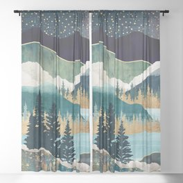 Star Lake Sheer Curtain