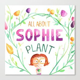 All about sophie Canvas Print
