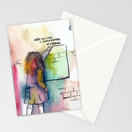 Where you stand is simply a matter of framing Stationery Cards