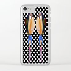 Twins dot girls Clear iPhone Case