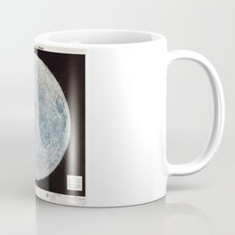 Lunar Reference Mosaic LEM-1 (Moon Map from 1966) Coffee Mug