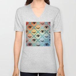 Original Colorful Eyes Design Unisex V-Neck