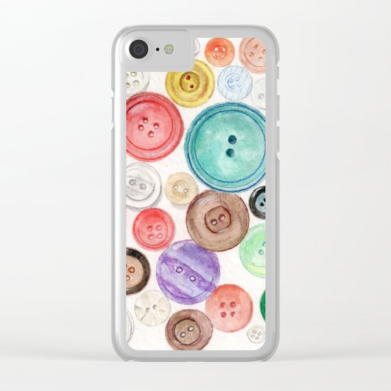 Buttons! Clear iPhone Case