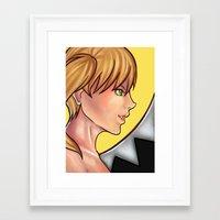 soul eater Framed Art Prints featuring Soul Eater- Maka Albarn by Caeruuart