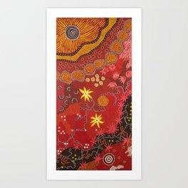 Aboriginal summer Art Print