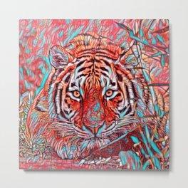 ColorMix Tiger 1 Metal Print