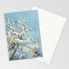 White and Blue Spring no. II Stationery Cards