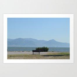 Sit, look at the Sea Art Print