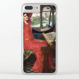 "John William Waterhouse - ""I am half sick of shadows"" said the Lady of Shalott Clear iPhone Case"