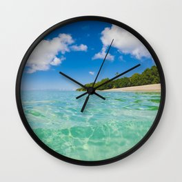Azure Waters Wall Clock